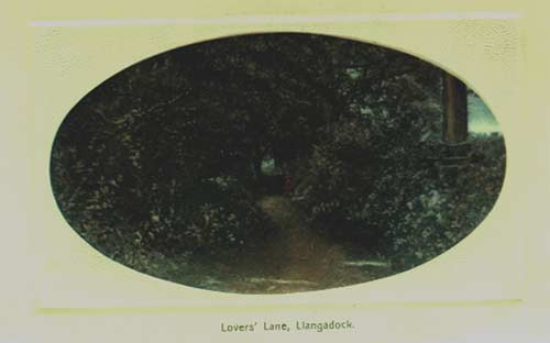 Lovers' Lane postcard